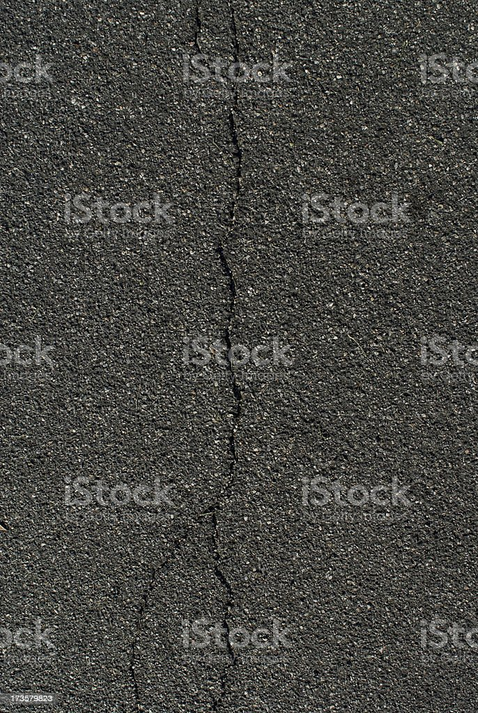 Crack in the Asphalt Taken From Above royalty-free stock photo