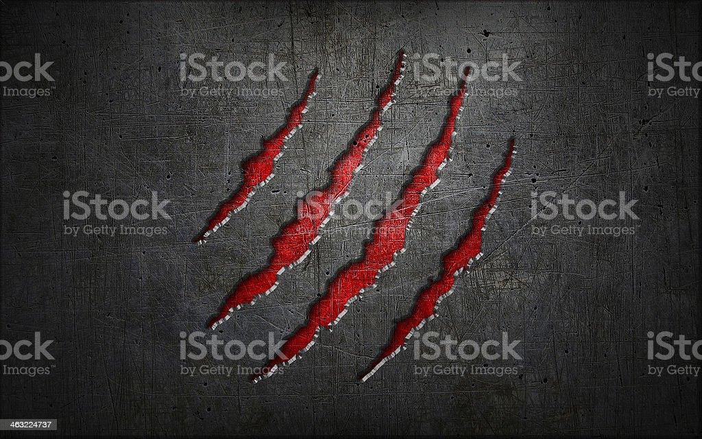 Crack metal background stock photo