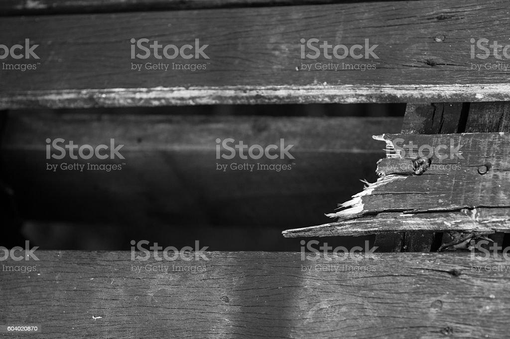 crack of wood stock photo