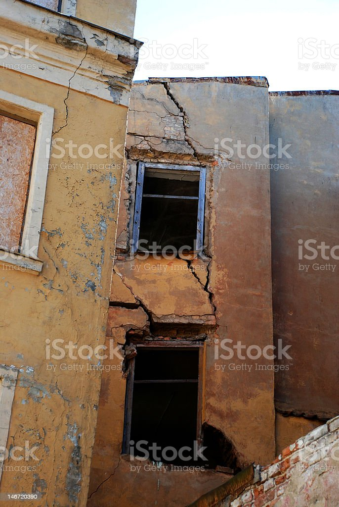 Crack on a wall royalty-free stock photo