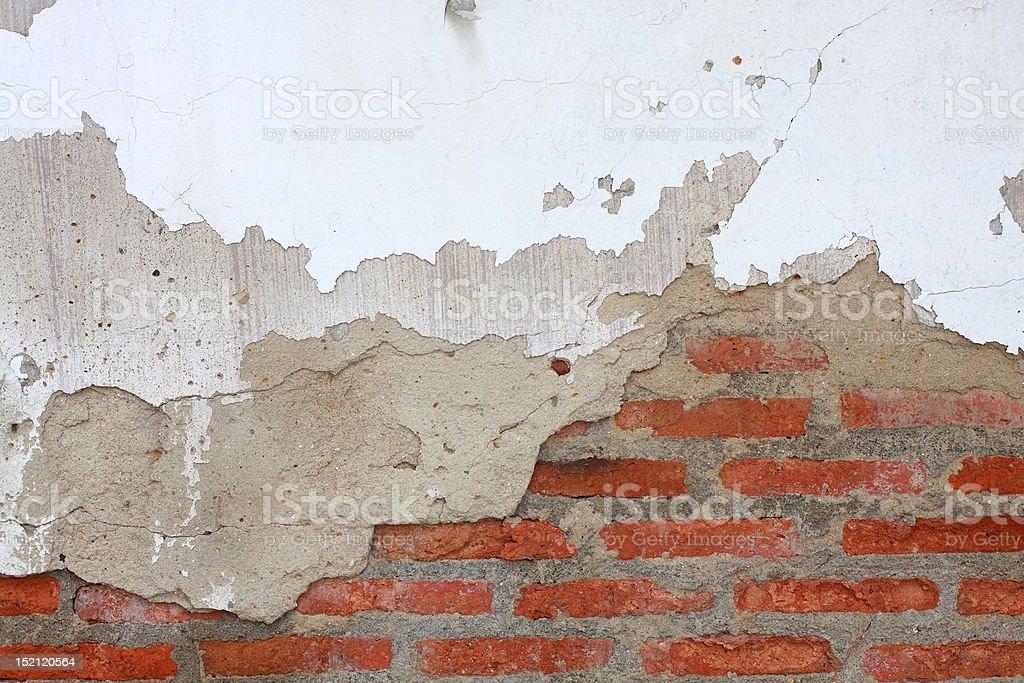 crack on brick wall royalty-free stock photo