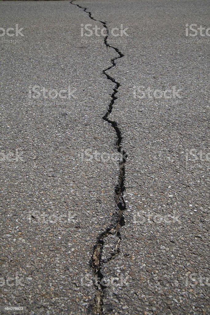 crack tarmac road stock photo