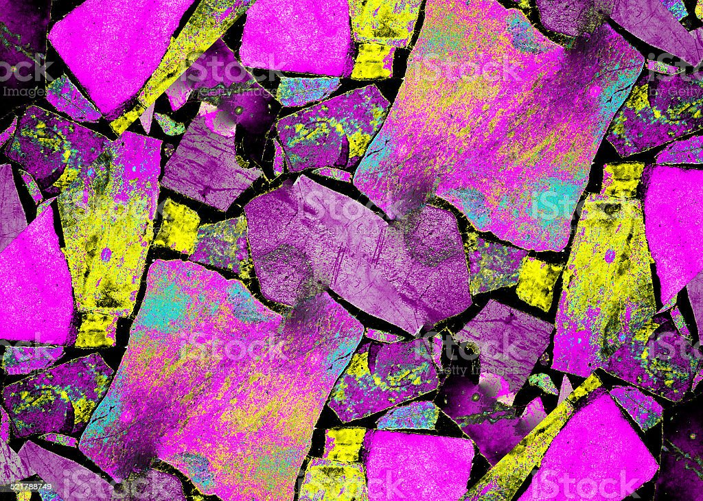 Cracked Abstract Colorful Texture stock photo