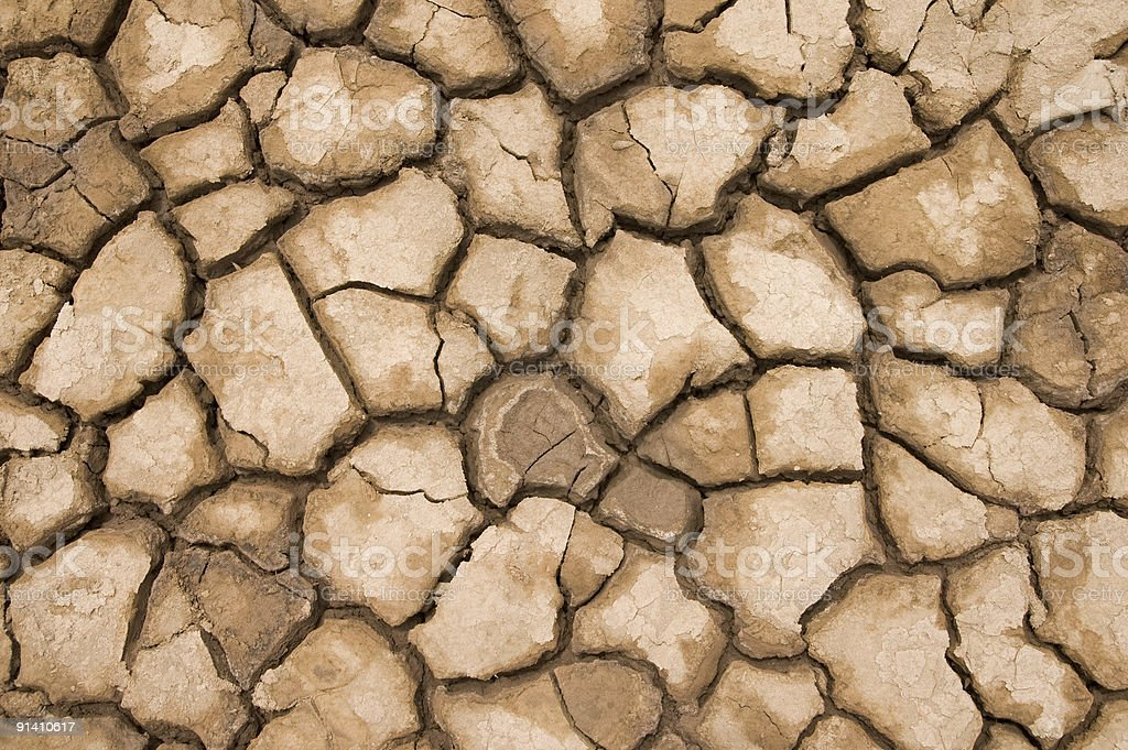 cracked and dried soil texture stock photo