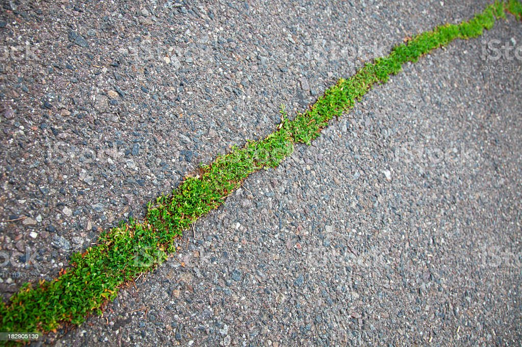 cracked asphalt pavement royalty-free stock photo