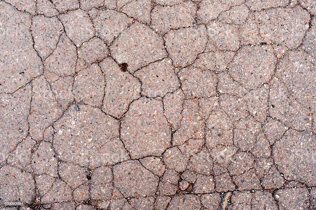 Cracked Asphalt Texture stock photo