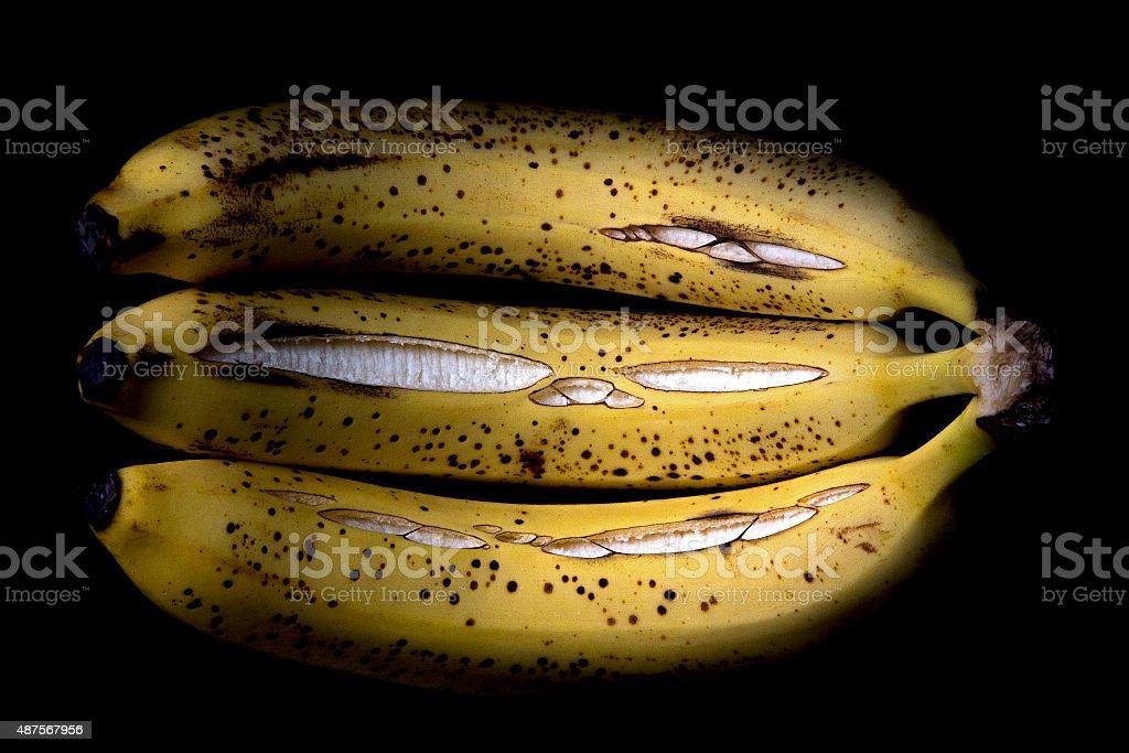 Cracked bananas royalty-free stock photo