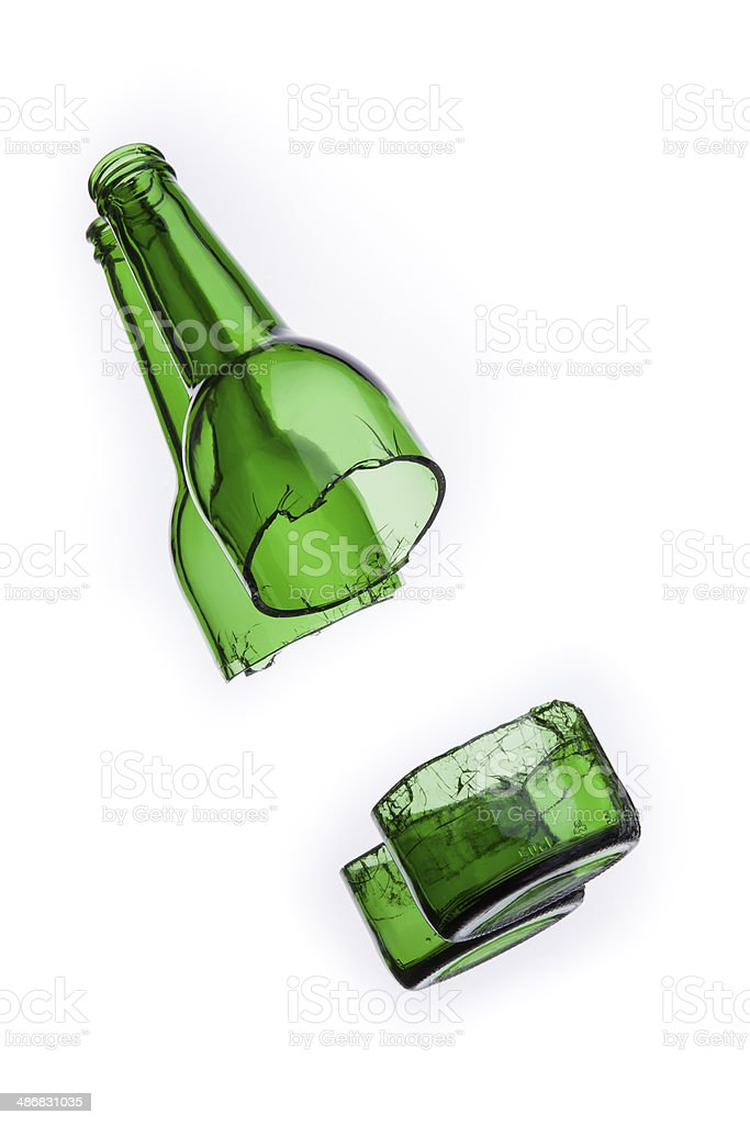 Agrietado botella foto de stock libre de derechos