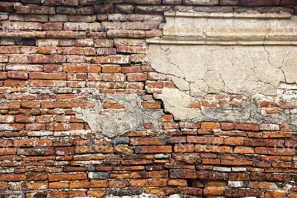 Pęknięty cegły ściany zbiór zdjęć royalty-free