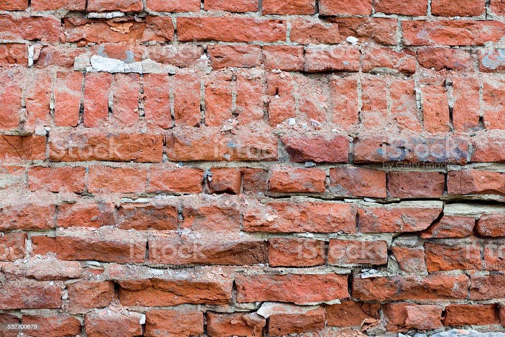 Cracked Brick Wall XXXL stock photo