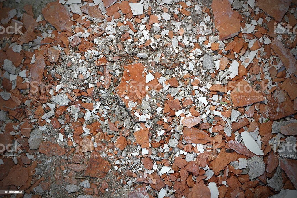 cracked bricks texture royalty-free stock photo