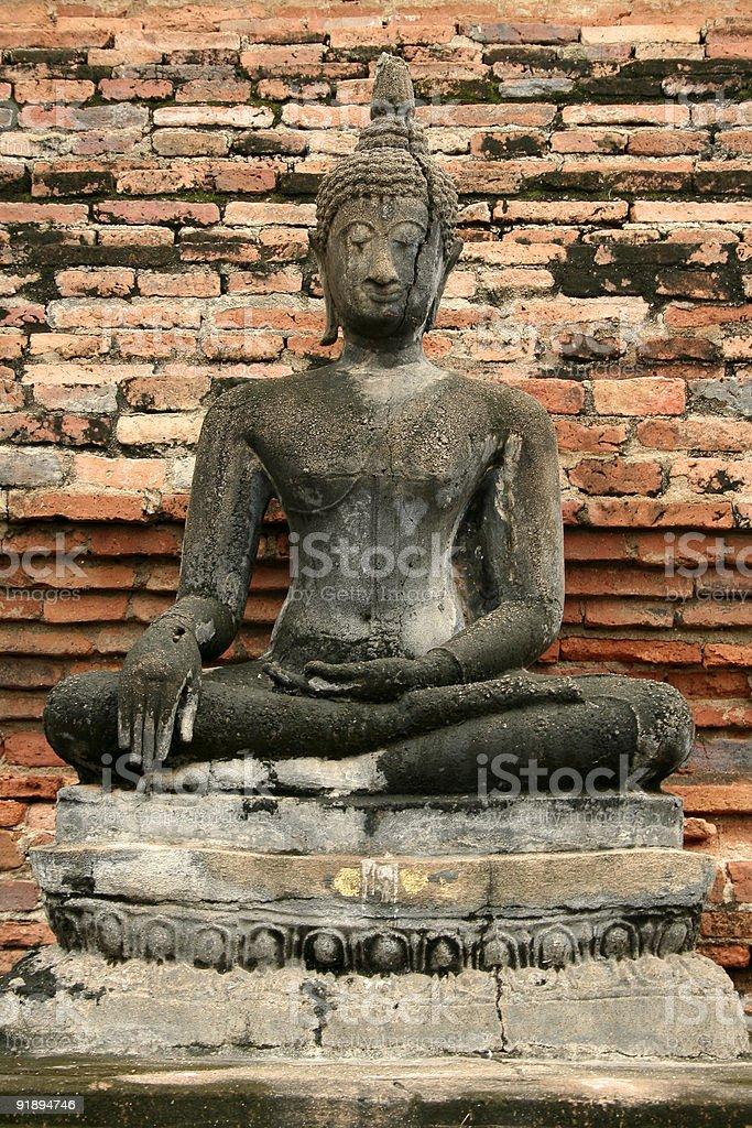 cracked buddha royalty-free stock photo