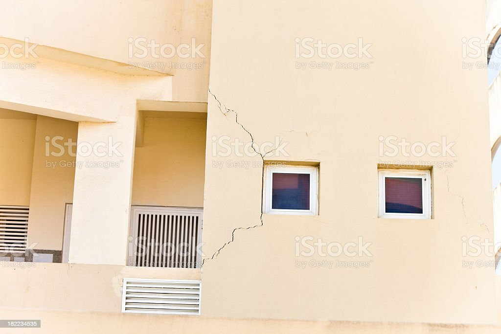 Cracked Building royalty-free stock photo