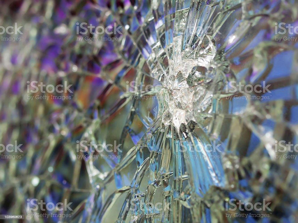 cracked bulletproof windshield royalty-free stock photo