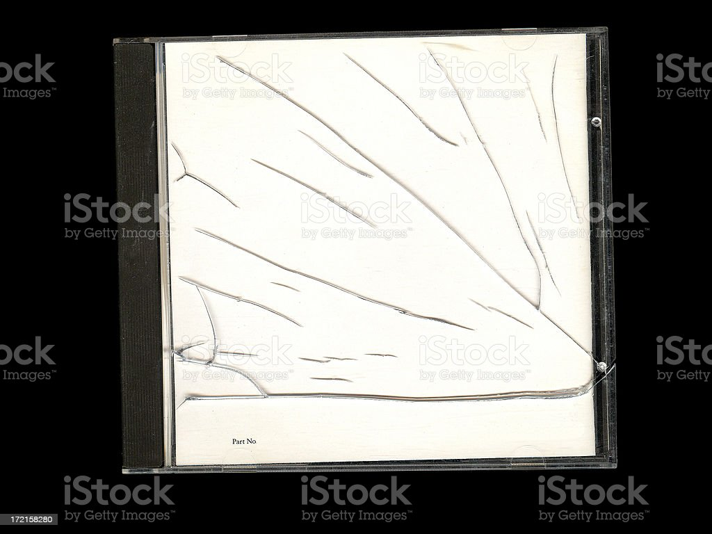 Cracked CD Cover stock photo