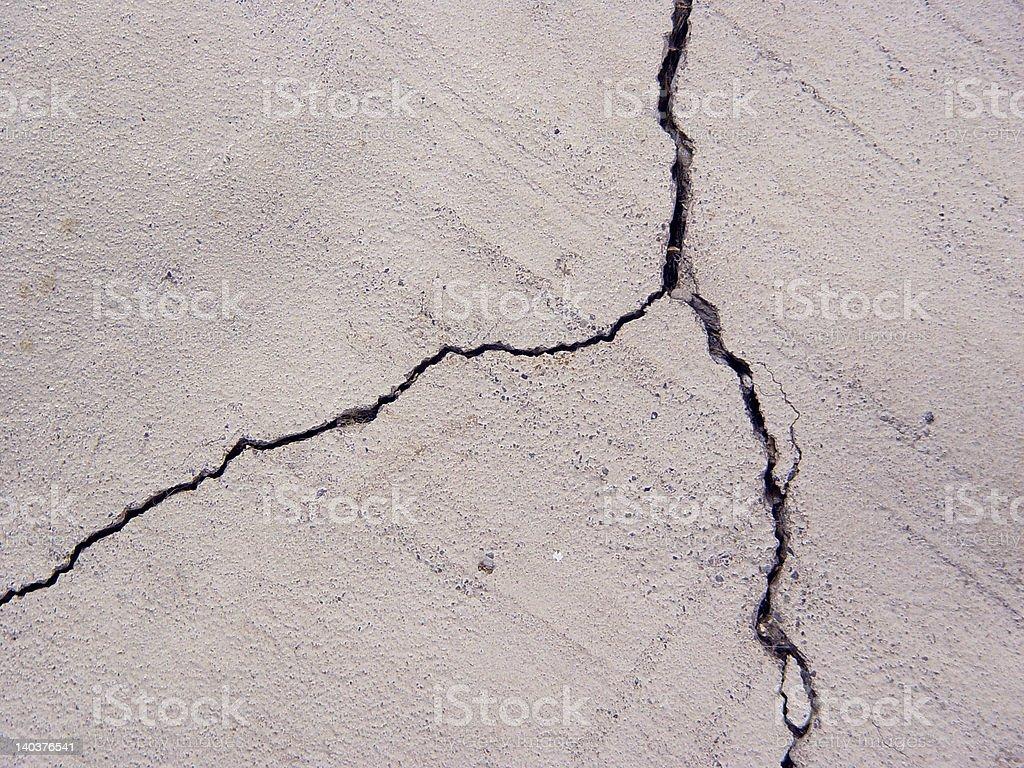Cracked Cement Floor. royalty-free stock photo