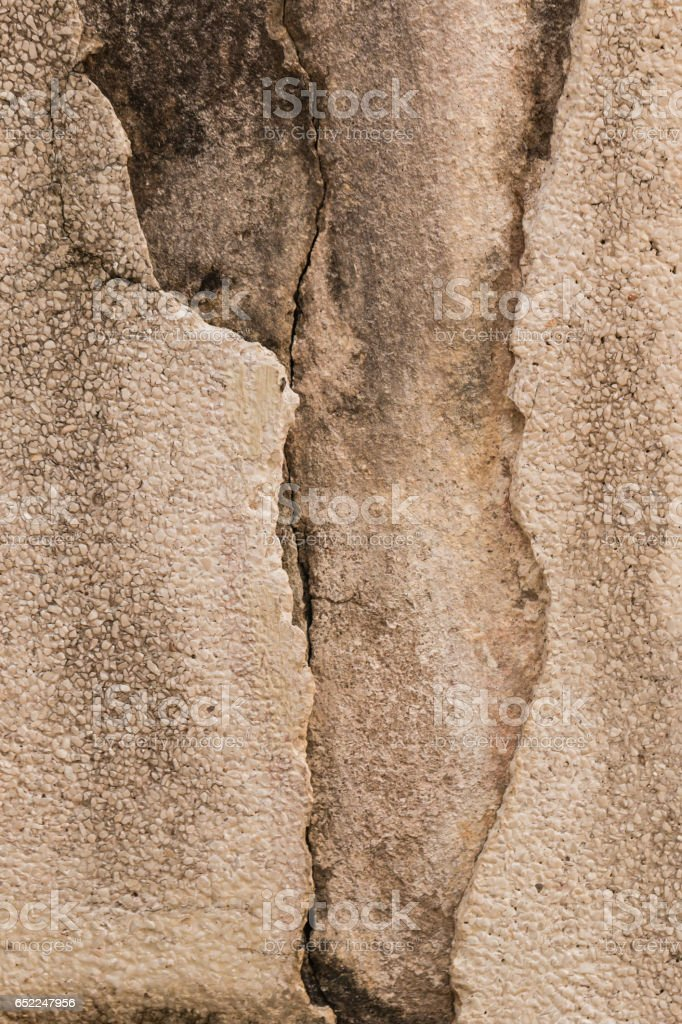Cracked cement wall stock photo