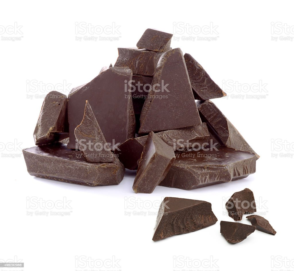 Cracked chocolate pile stock photo