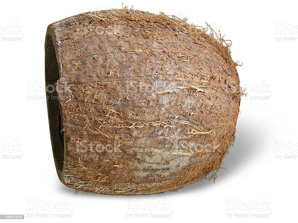 Coco Rachado isolado sobre o branco foto de stock royalty-free