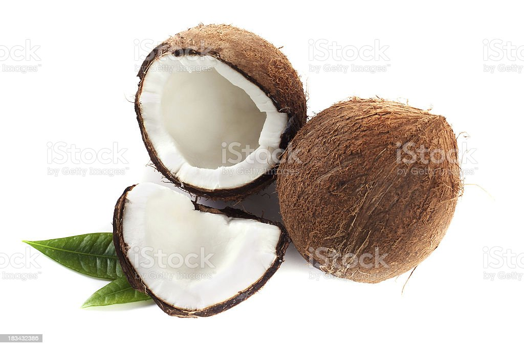 Cracked coconut royalty-free stock photo