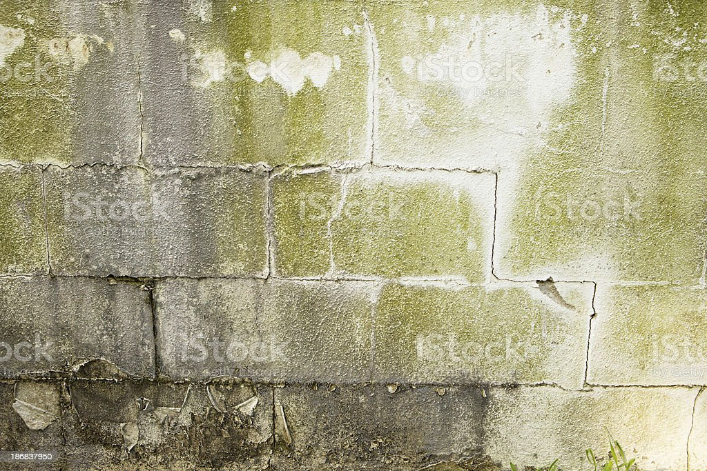 Cracked Concrete Basement Wall royalty-free stock photo