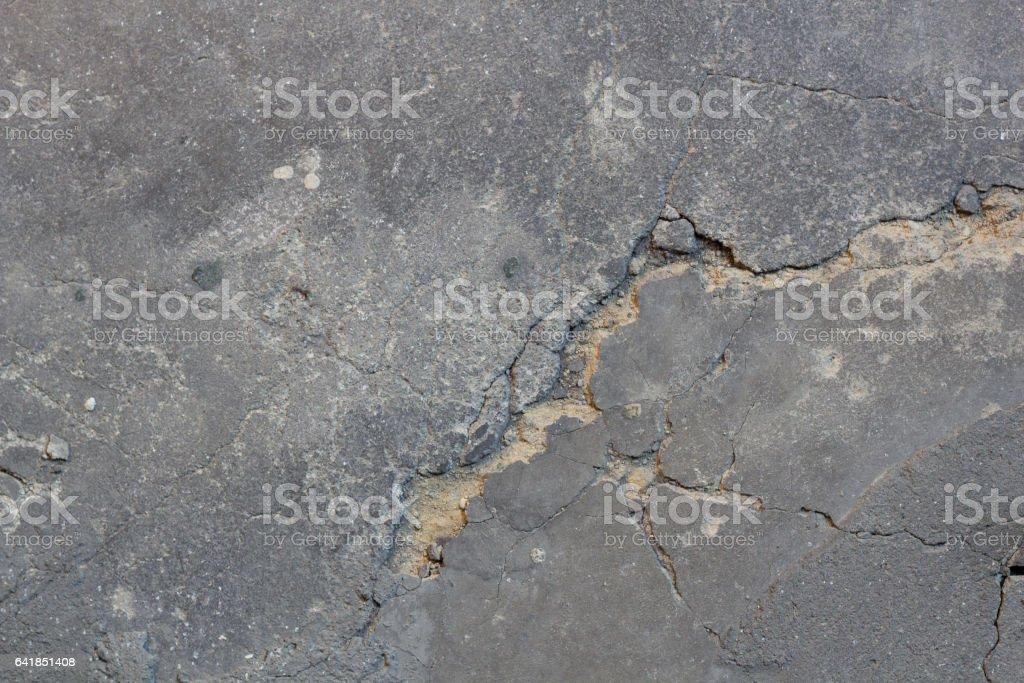Cracked concrete floor stock photo