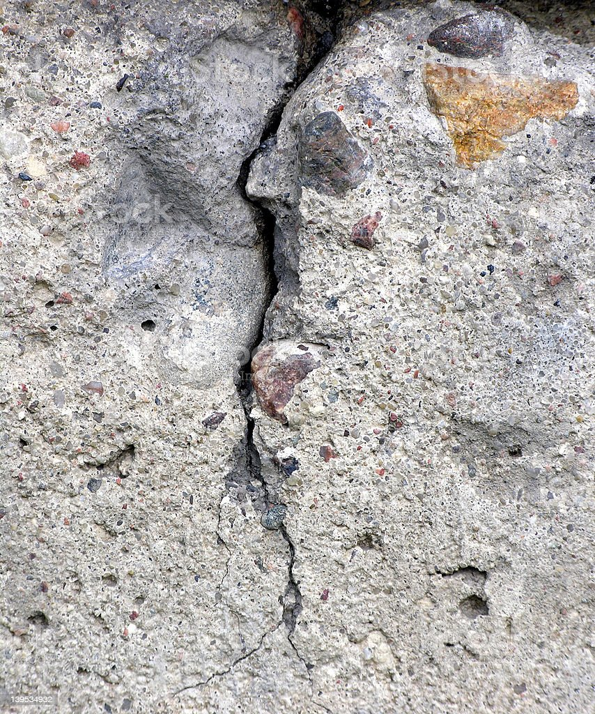 Cracked concrete royalty-free stock photo