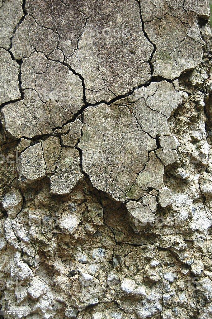Cracked concrete stock photo