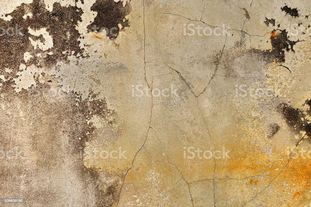 cracked concrete wall stock photo