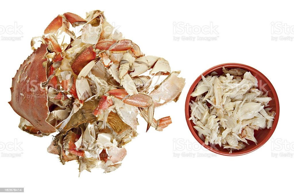 Cracked Crab stock photo