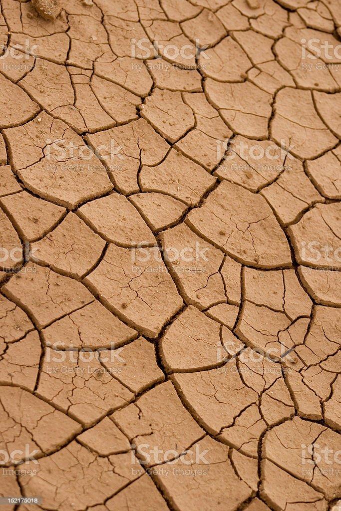 Cracked Desert Clay Ground stock photo