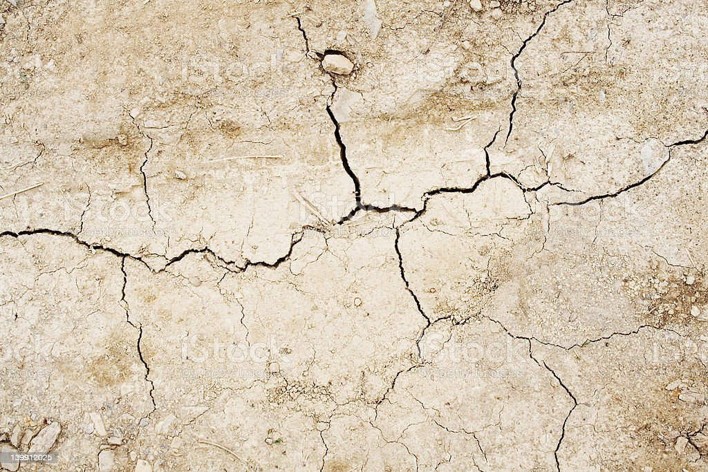 Cracked dried earth royalty-free stock photo