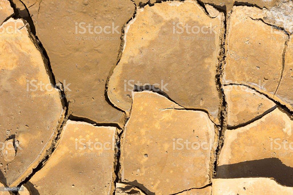 Cracked dry earth stock photo