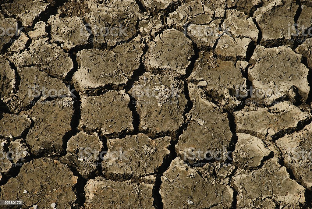 cracked drying soil detail stock photo