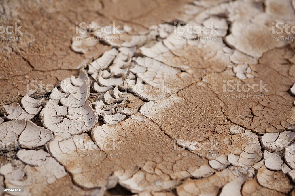 Cracked Earth at Hverir Hot Springs, Iceland royalty-free stock photo