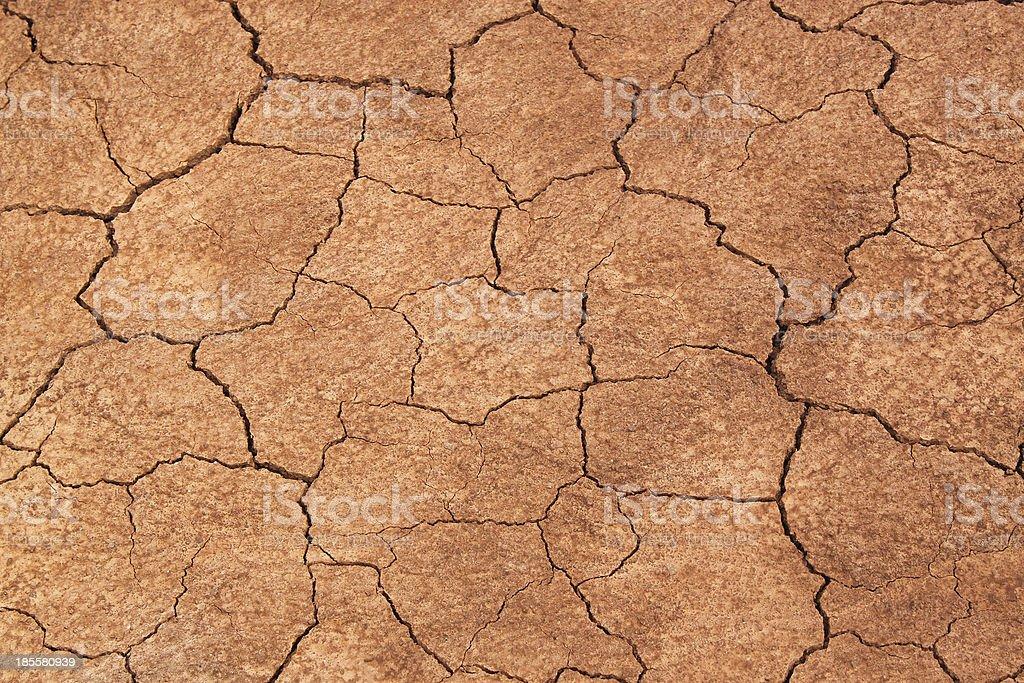 Cracked Earth Background. Cheltenham Badlands, Caledon, Ontario, Canada stock photo