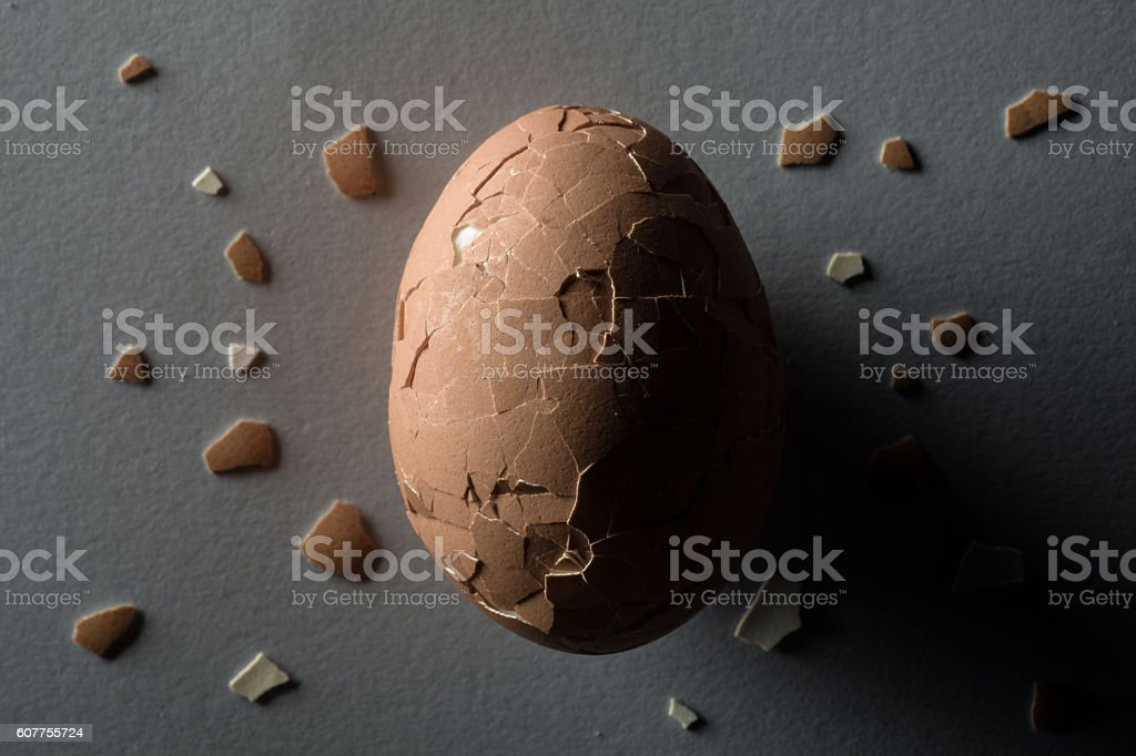 Cracked Egg stock photo