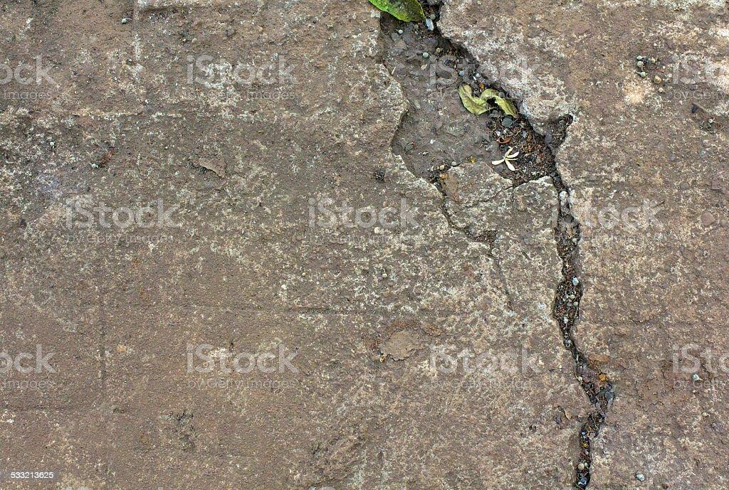 Cracked floor stock photo