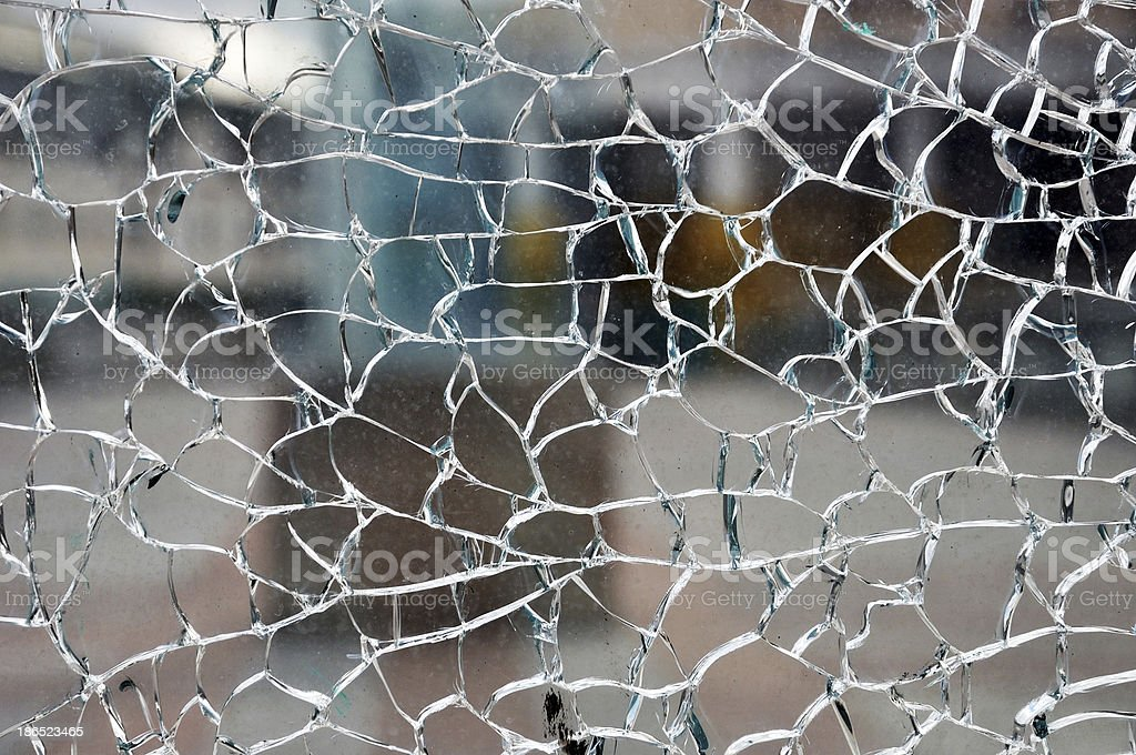 Cracked glass royalty-free stock photo