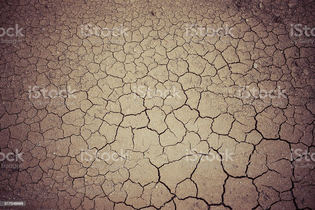 Cracked ground, drought stock photo