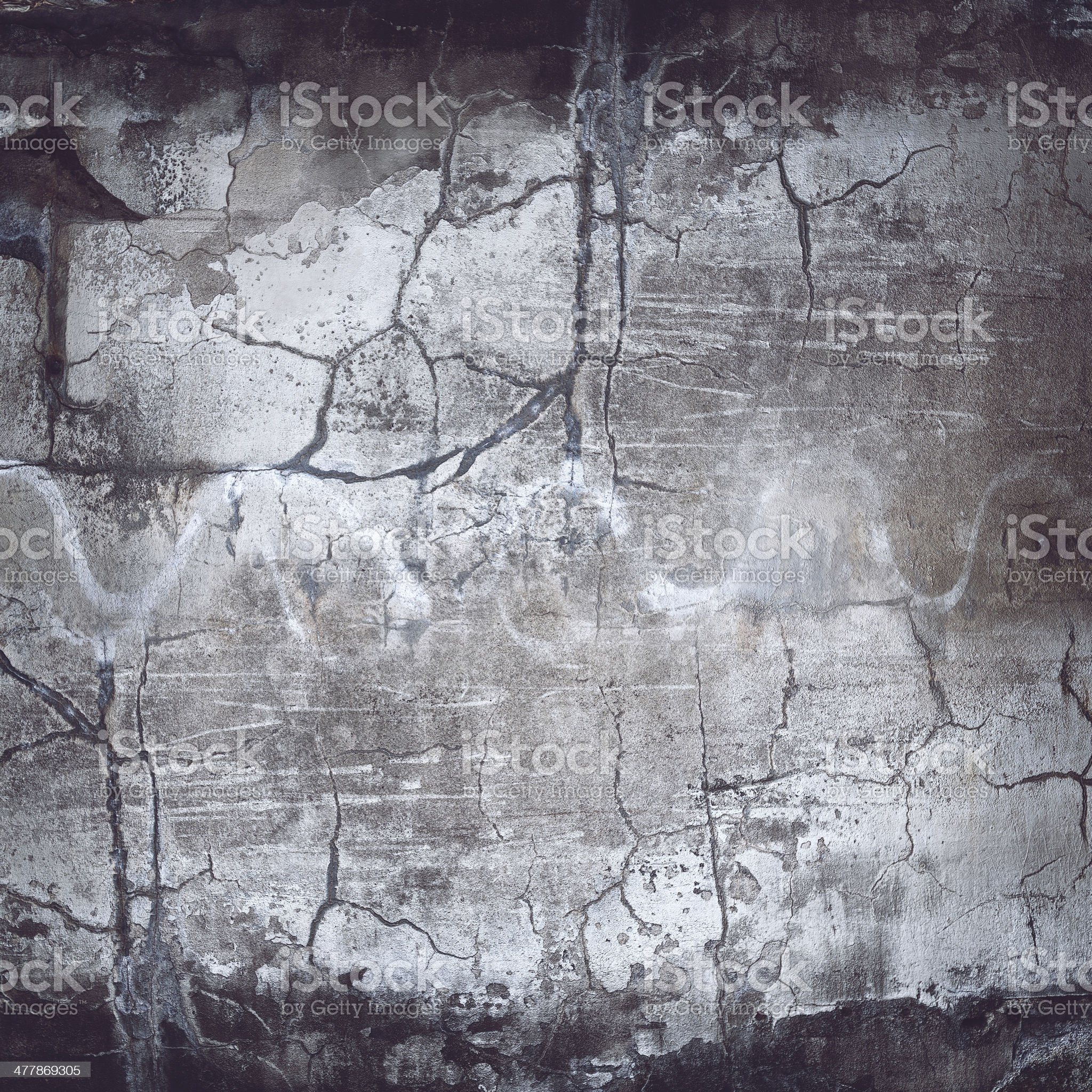 XXXL Cracked Grunge Wall Texture royalty-free stock photo