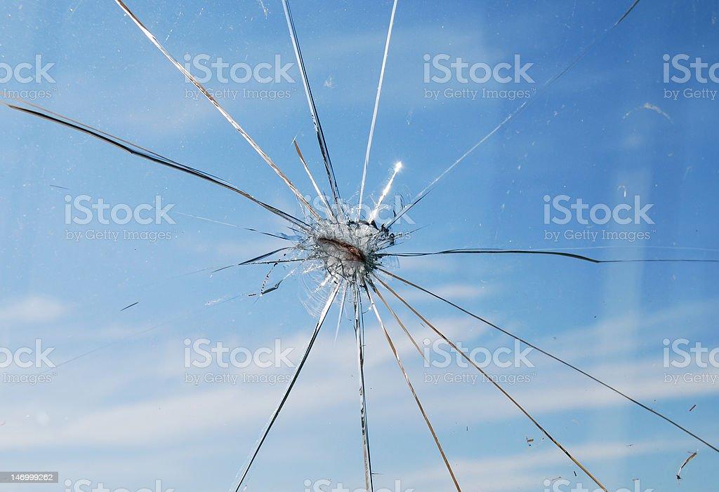 Cracked Hole royalty-free stock photo