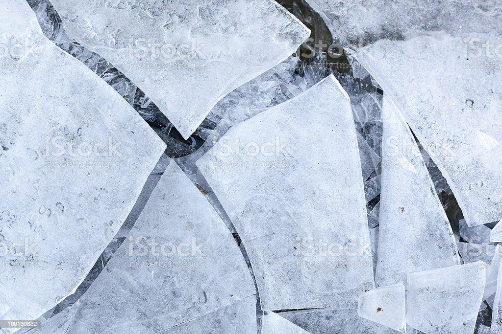 Cracked ice royalty-free stock photo