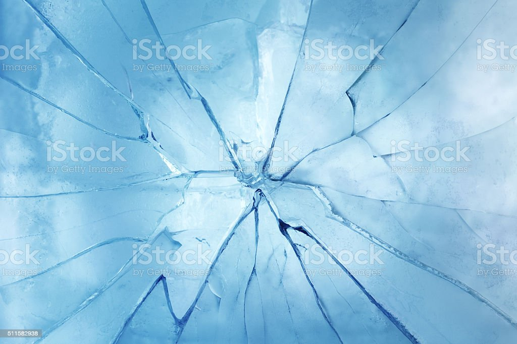 Cracked ice stock photo