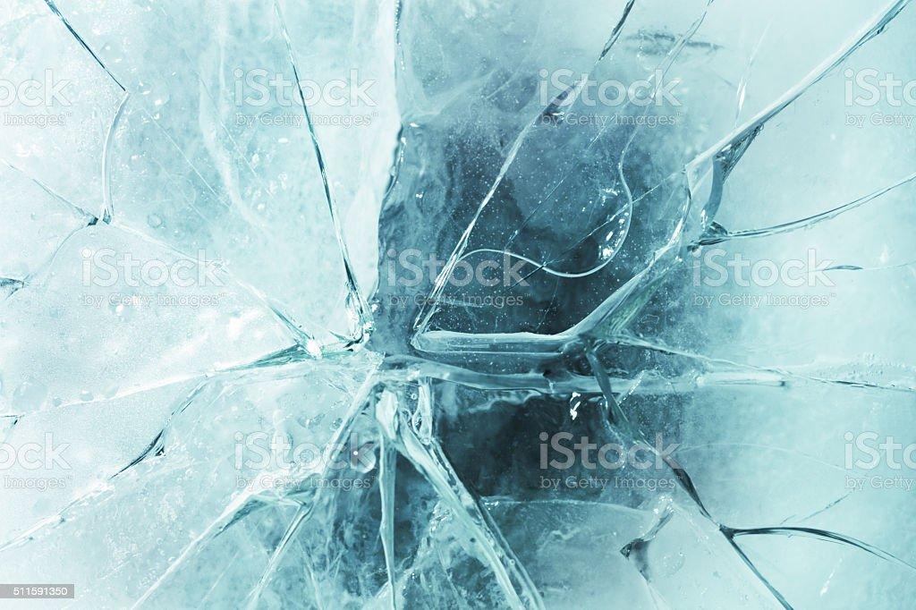 Cracked ice stock photo