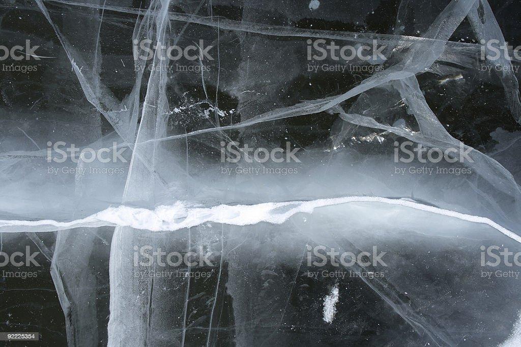 Cracked ice - snowy