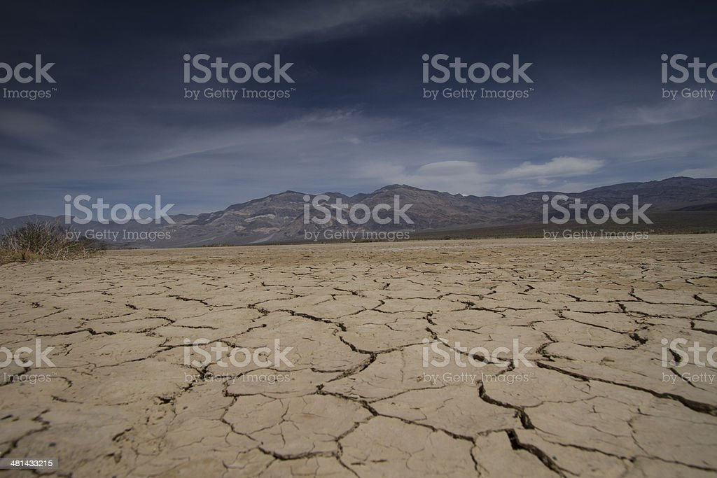 Cracked lake bed royalty-free stock photo