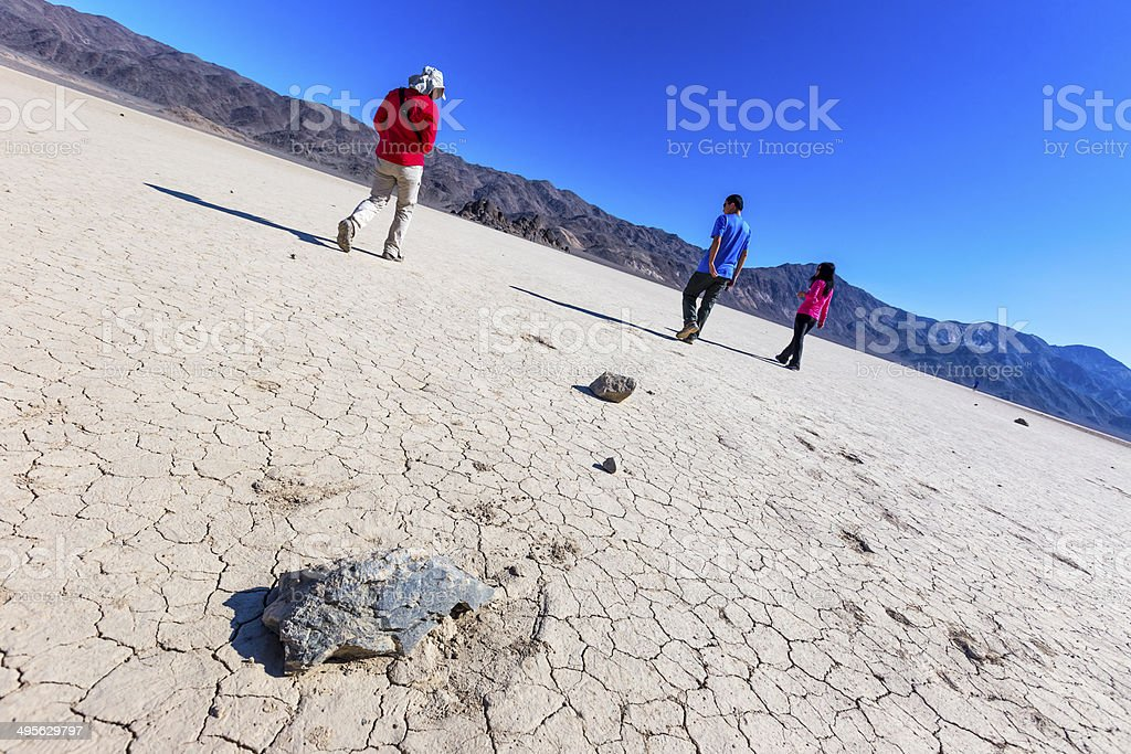 Cracked Lakebed in Death Valley stock photo