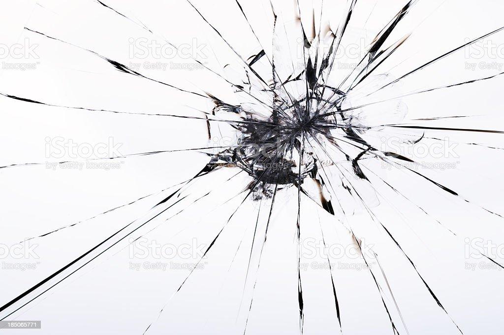 cracked laminated glass royalty-free stock photo