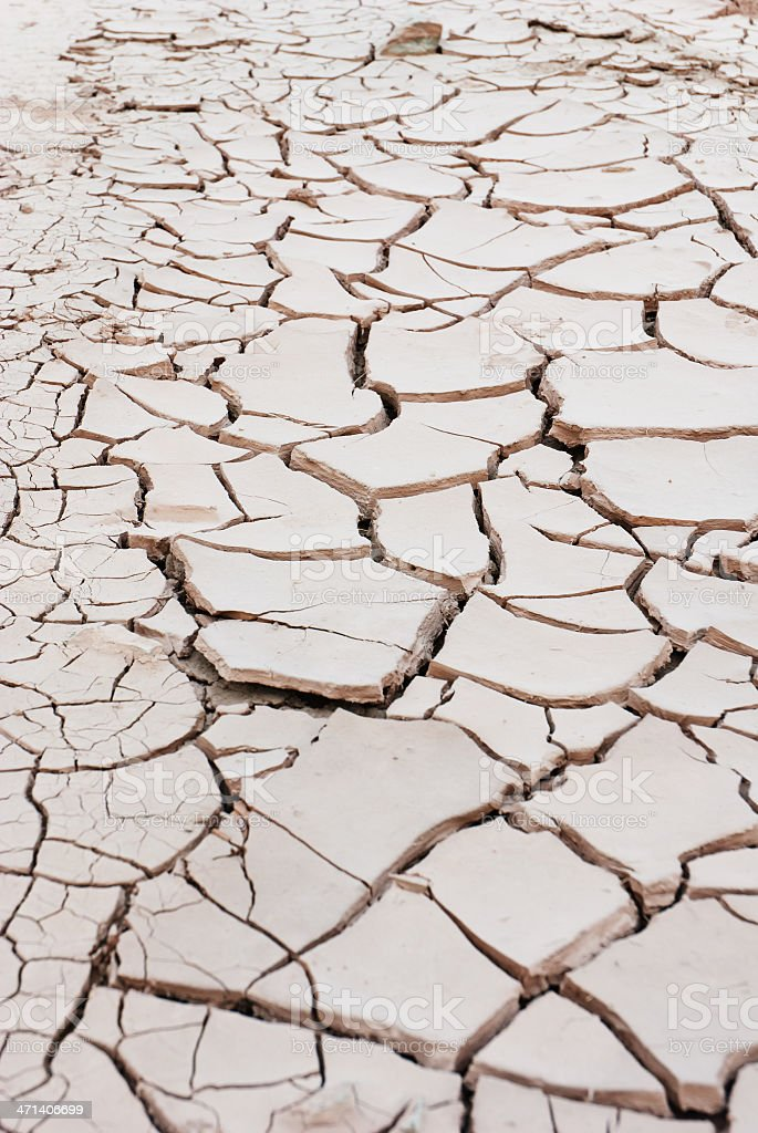 cracked land in rural areas, northern China stock photo